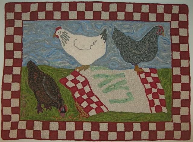 """Chicken Dreams  34"""" x 46"""""""