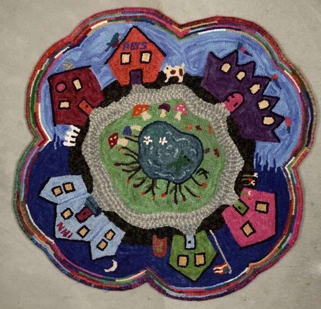 "Lucy's Fairy Village  36"" diameter"
