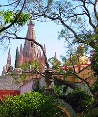 View of pink Parroquia