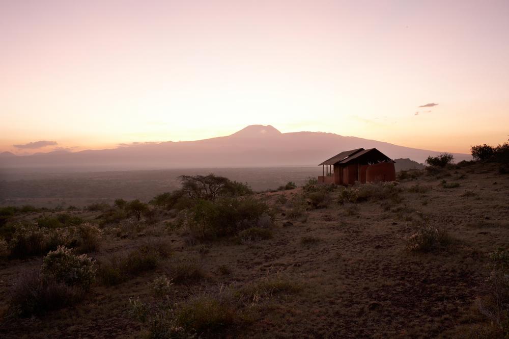 Shu'mata guest tent with Kilimanjaro.jpg