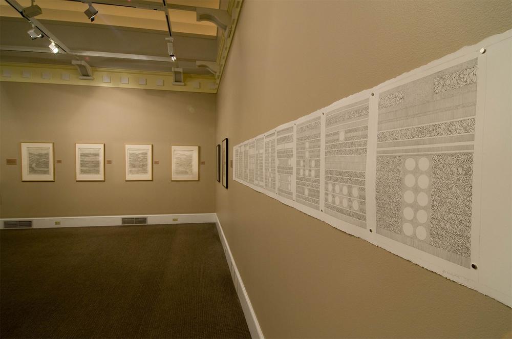 Installation of Hojas de Ruta, Arnold Gallery, Lebanon Valley College