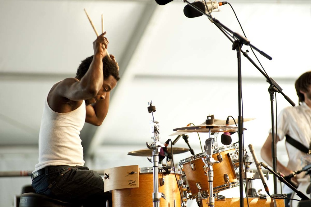 Julian Addison, drums. Jazz Fest 2011.