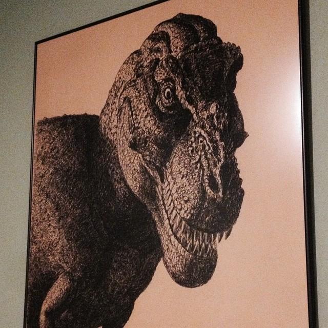 Pic from yesterday's museum trip. #rainday #trex #dinosaur