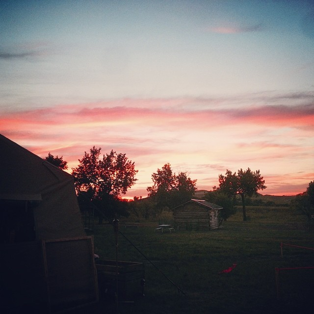 #Sunset in Marmarth, ND