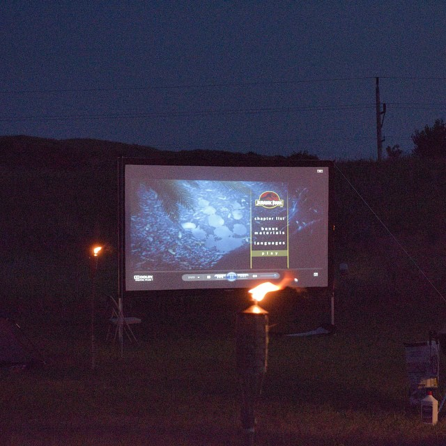 Enjoy outdoor movie nights when you join us on a dig.  Can you guess the film?? #movies #fossils #dinosaurs www.hcfossils.com