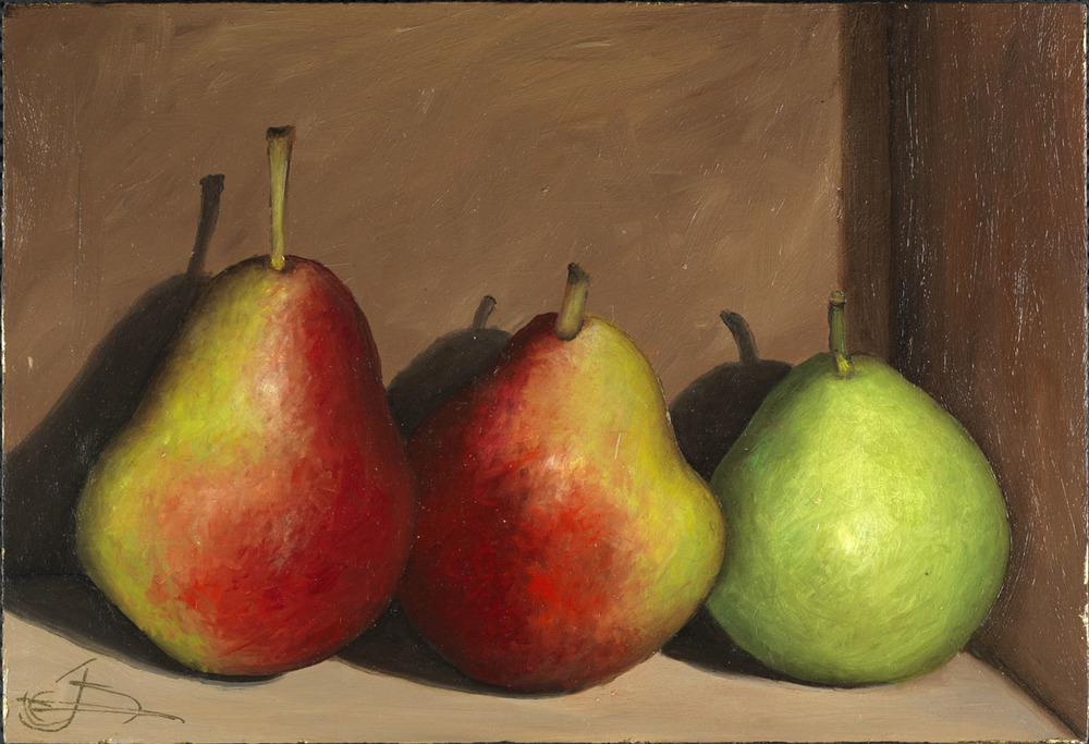 3 Seckel Pears