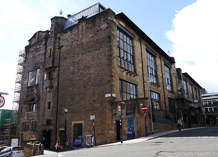 The School of Art, before it was devastated by fire earlier in the year.