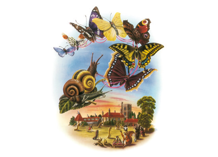 '[They] happily fluttered and peacefully flew, And ferried the Snails to the Ball.' Unassigned authorship, from The Butterfly Ball and The Grasshopper's Feast. Image from The Guardian http://www.theguardian.com/books/gallery/2008/oct/08/alan-aldridge-butterfly-ball#img-6