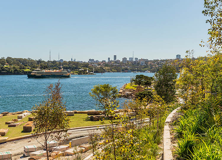 The headland at Barangaroo Reserve under construction. Image: Hamilton Lund, via Barangaroo Delivery Authority http://barangaroo.com/news-media/image-gallery/barangaroo-reserve.aspx