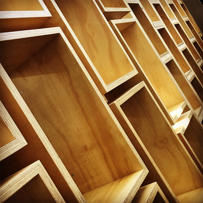 Detail from the new fitout by Kerstin Thompson Architects at Deakin University's School of Architecture and Built Environment, our home for the National Council meeting.