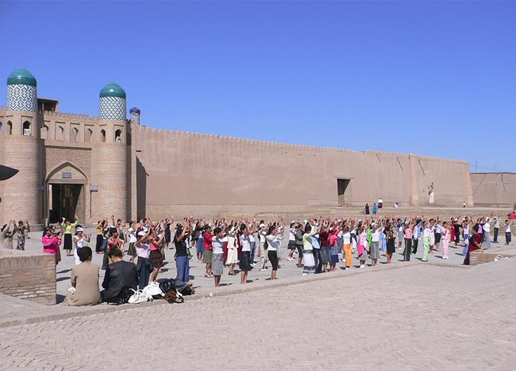 Women dancing in Bukhara, Uzbekistan.