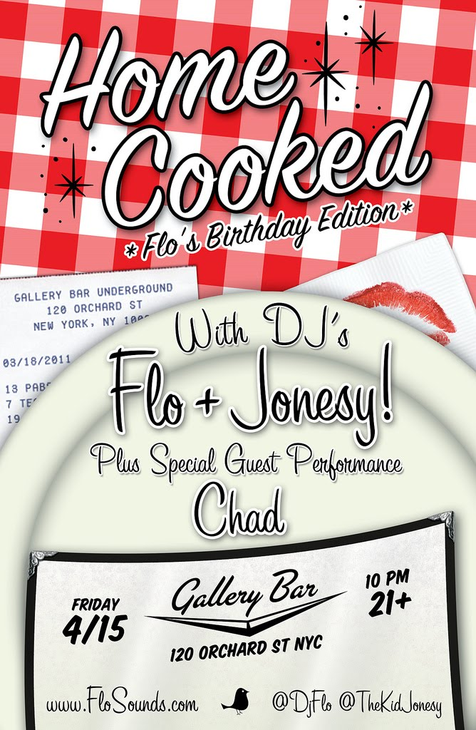 "FLO & JONESY Present:  "" HOME COOKED ""  SPECIAL PERFORMANCE BY: ""CHAD"" HARLEM, NYC 