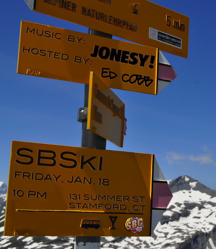 "Friday, January 18th Ed Cobb & JONESY bring you the Ski-Wear Themed ""SBSki Party"" @ SBC Stamford.  Party starts at 10PM.  Attire is Gnar Ski Threads.  Beats by yours truly! Facebook Invite"