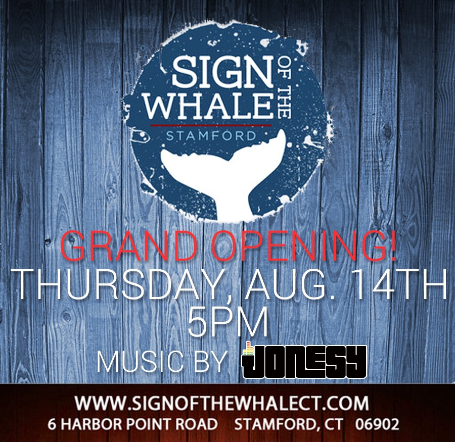 THURSDAY, AUG. 14TH MEET ME AT THE GRAND OPENING OF SIGN OF THE WHALE, STAMFORD'S NEWEST ROOFTOP BEER GARDEN LOCATED AT BEAUTIFUL HARBOR POINT.  MUSIC BY YOURS TRULY FROM 5PM - CLOSE  RSVP FOR THE GRAND OPENING HERE:  http://www.signofthewhalect.com/events/grand-opening-vip-reception