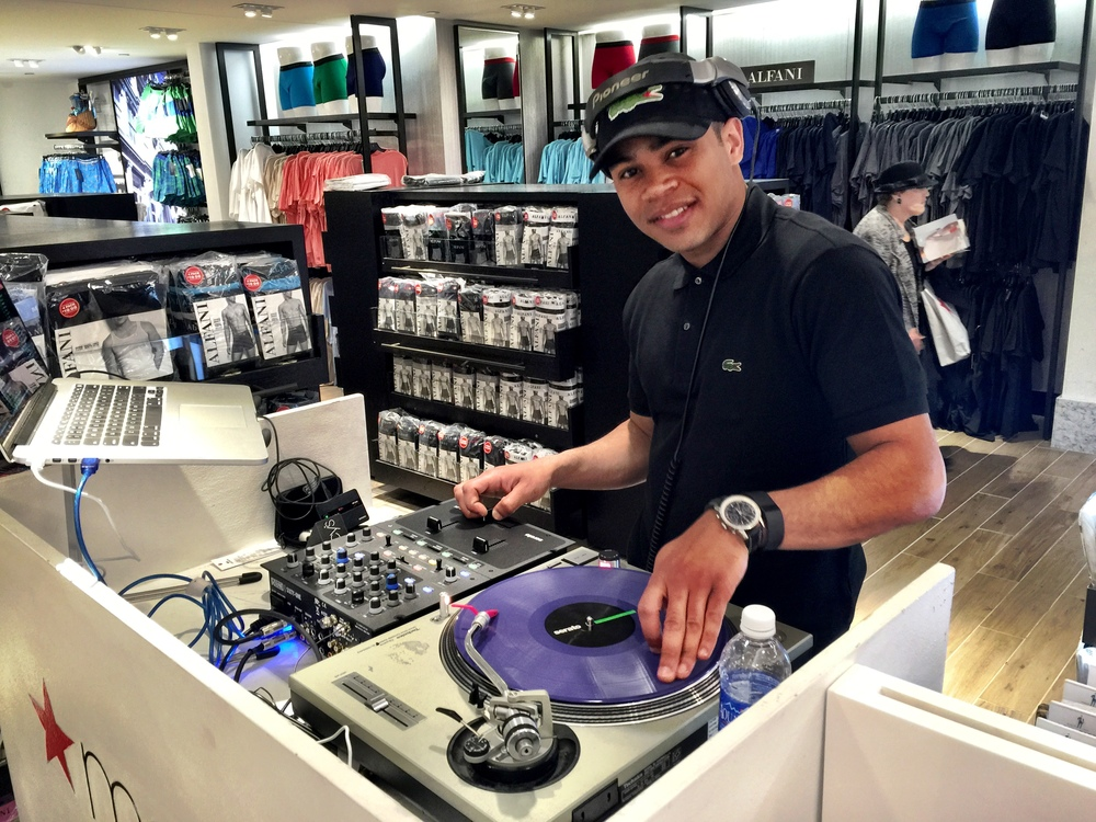 Thursday, April 30th brought me to Macy's in Herald Square NYC to DJ a #LacosteUnderwear Event courtesy of Scratch Events.  Big thanks to Scratch Events for making this happen.  Thank you to Mariela of Macy's for keeping me dressed smooth, and thanks to Lacoste for the fun night!