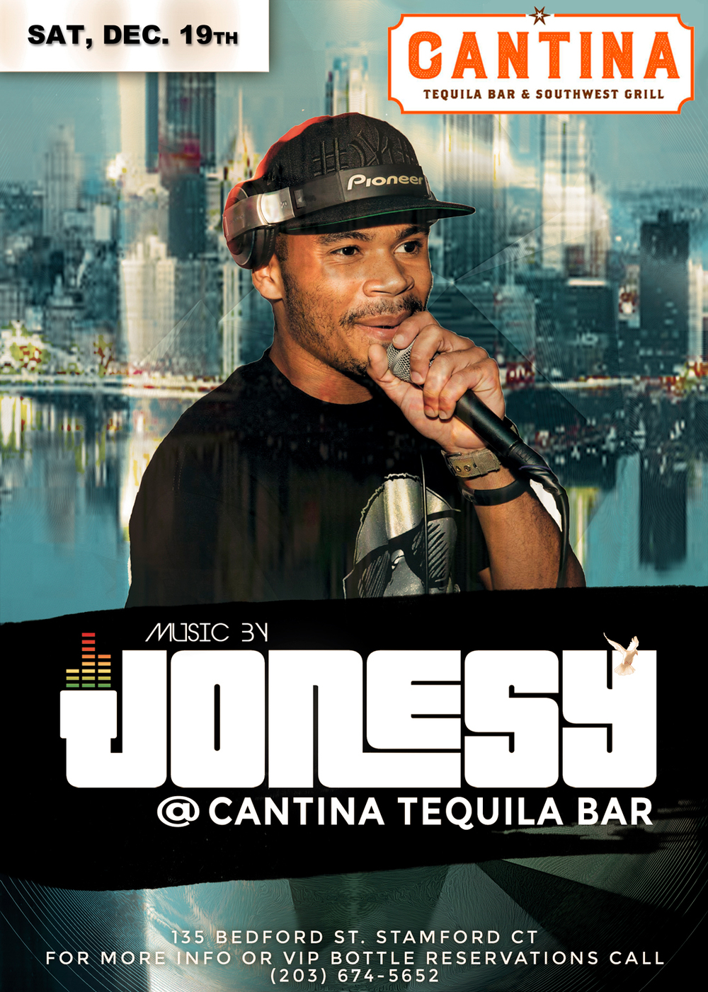 SATURDAY, DEC. 19TH JOIN US AT CANTINA TEQUILA BAR 9PM FOR MUSIC BY JONESY!  NO COVER, SEE YOU THERE!