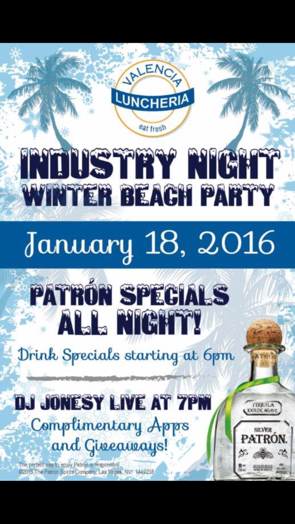 MONDAY, JANUARY 18TH... EVERYONE'S INVITED!!!  COMPLIMENTARY S'MORES + PASSED APPS, DRINK SPECIALS & MUSIC BY YOURS TRULY AT 7PM!