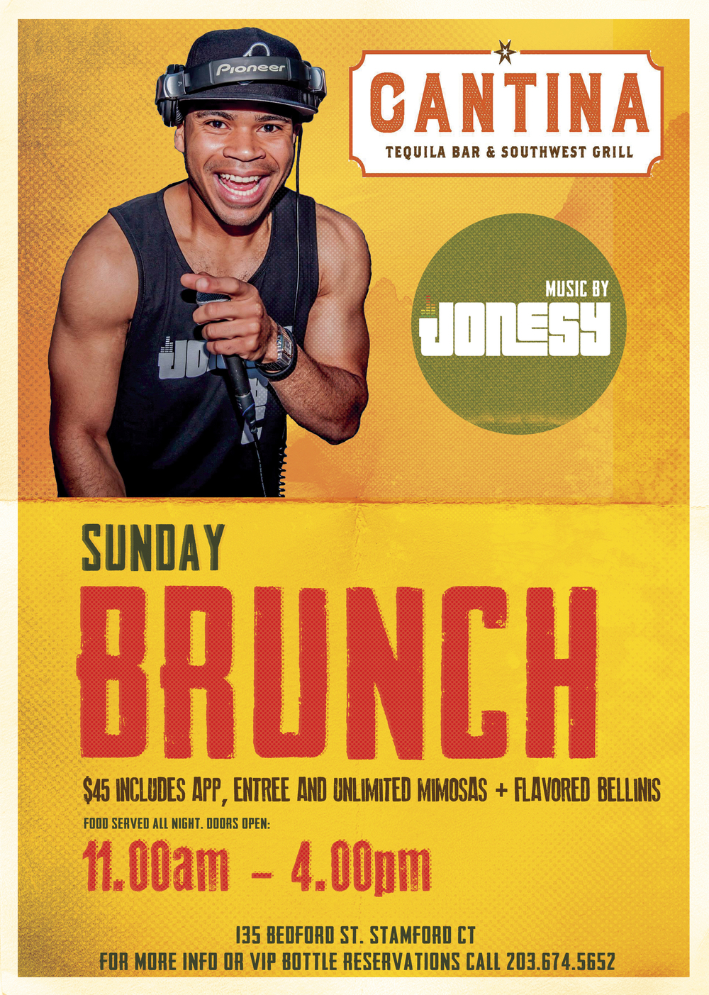 SUNDAY MAY 1ST, JOIN US AT CANTINA TEQUILA BAR & SOUTHWEST GRILL FOR SUNDAY BRUNCH WITH MUSIC BY YOURS TRULY!  DOORS OPEN AT 11AM, AND $15 GETS YOU AN UNLIMITED MIMOSAS AND/OR FLAVORED BELLINIS.  DELICIOUS FOOD SERVED ALL DAY LONG.  PARTY GOES UNTIL 4PM, MEET ME THERE!