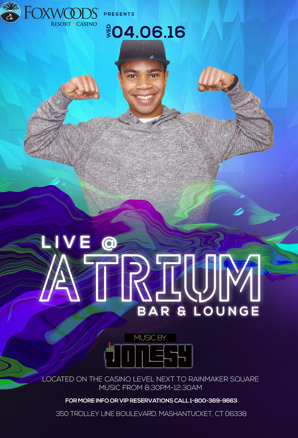 Wednesday, April 6th I make my way back to  Foxwoods Resort Casino  at the  Atrium Lounge , located on the Casino Level next to Rainmaker Square.  Music from 8:30pm-12:30am.  Meet me there!