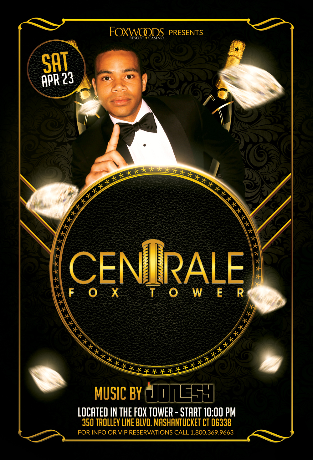 Saturday, April 23rd join me Centrale Fox Tower in Foxwoods Resort Casino for music by yours truly 10pm-close.