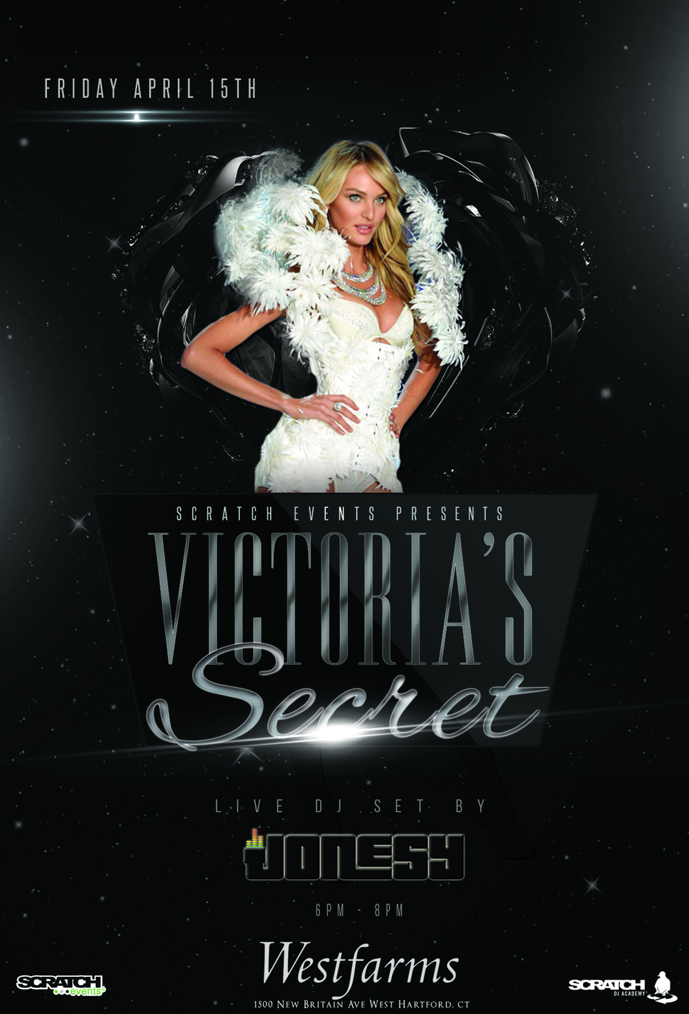 Friday, April 15th join me at Victoria's Secret @ Westfarms Mall in West Hartford, CT for music by yours truly 6-8pm.  Shopping deals throughout the event!  Presented by Victoria's Secret + Scratch Events.