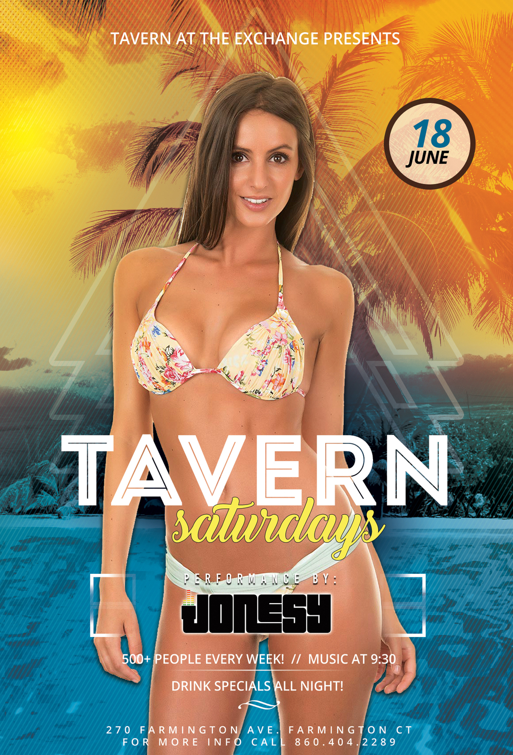 SATURDAY, JUNE 18TH JOIN US AT TAVERN AT THE EXCHANGE IN FARMINGTON, CT FOR MUSIC BY YOURS TRULY ALL NIGHT LONG!  HOSTED BY ALBY & ERIC SAVAGE, ITS THE BIGGEST SATURDAY NIGHT PARTY IN THE WHOLE STATE OF CT!  DRESS TO IMPRESS & ARRIVE EARLY TO AVOID A LINE.  SEE YOU ALL THERE!