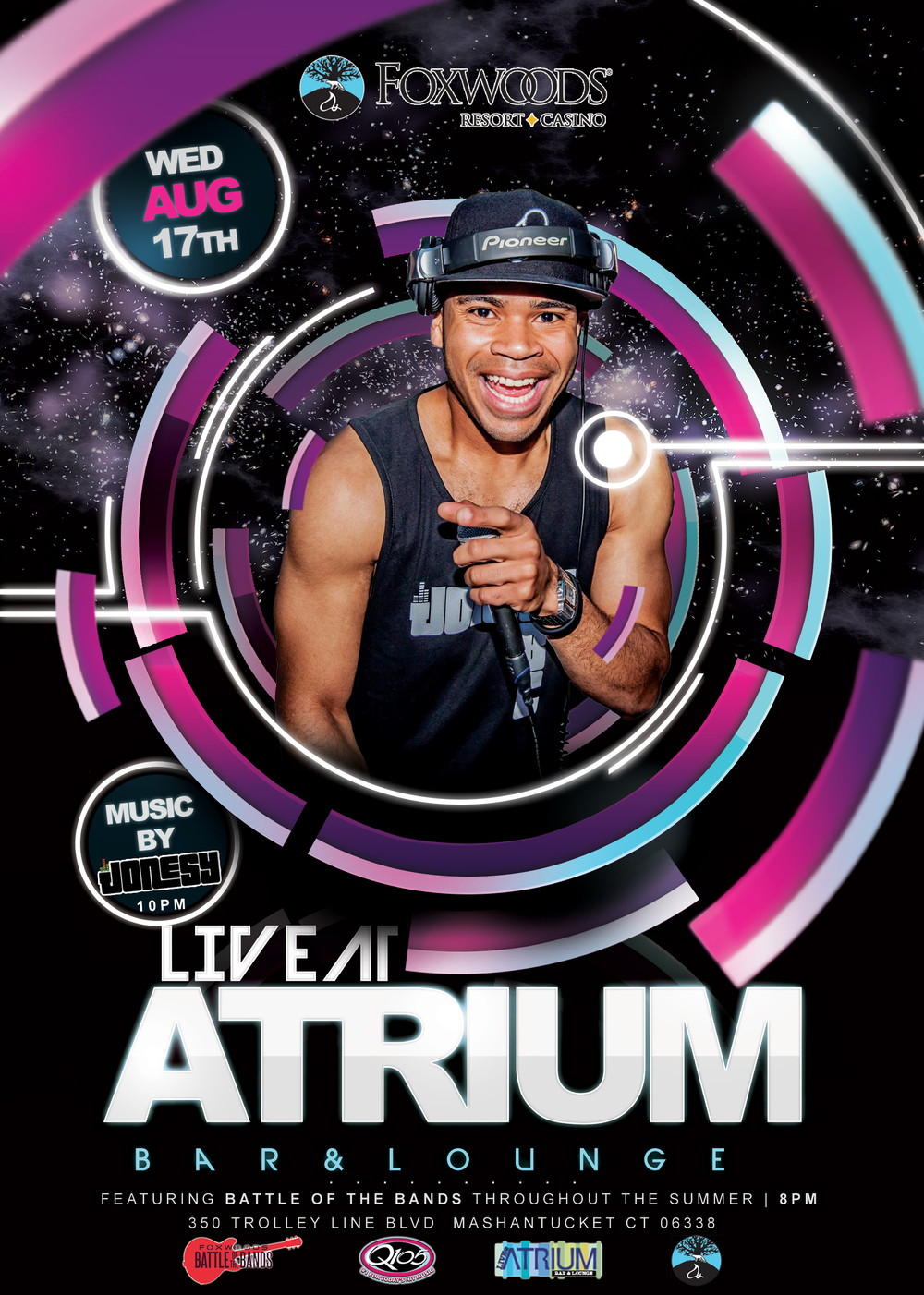 Wednesday, August 17th I make my way back to   Foxwoods Resort Casino   at the   Atrium Lounge  , located on the Casino Level next to Rainmaker Square.  DJ begins at 10:00pm following   Battle of the Bands  .  Meet me there!
