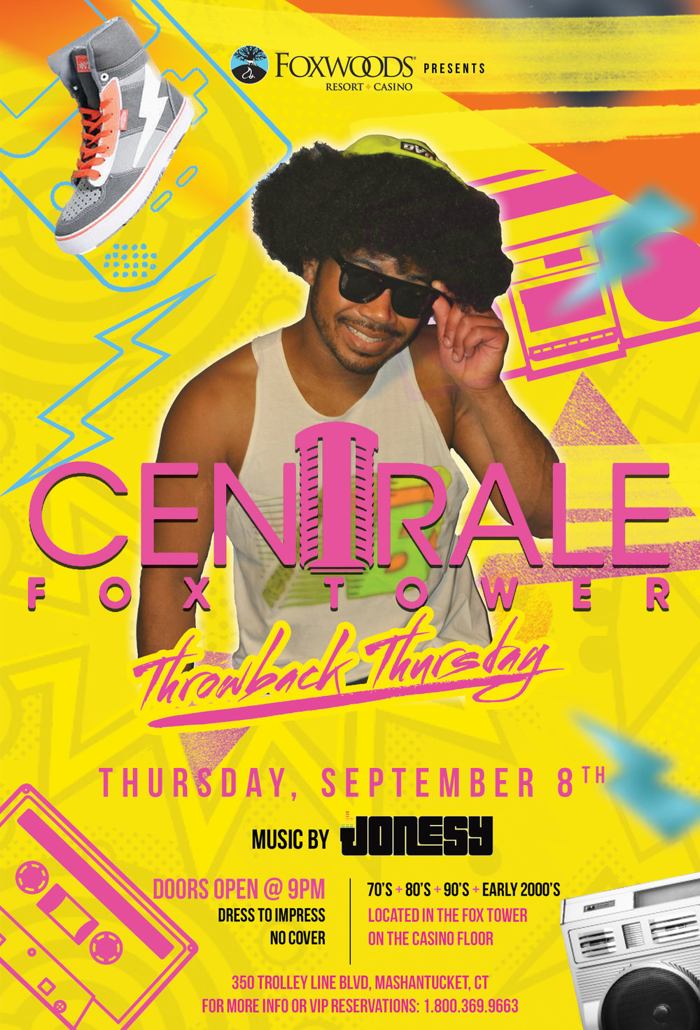 Thursday, September 8th meet me at Centrale Fox Tower @ Foxwoods Resort Casino for 'Throwback Thursday' with music by yours truly 9pm-close.  Spinning all the best hits from the 70's, 80's, 90's & early 2000's.  Dress to impress + no cover, hope to see everyone there!