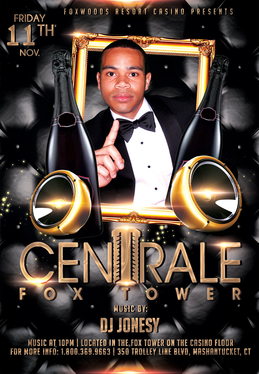 Friday, November 11th join me   Centrale Fox Tower   in   Foxwoods Resort Casino   for music by yours truly 10pm-close.