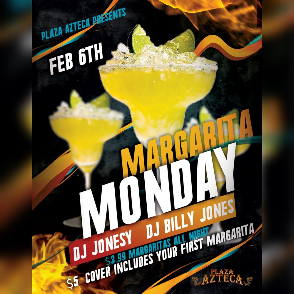 Monday, February 6th join me at Plaza Azteca in Newington, CT for Margarita Monday with music by Billy Jones & yours truly 9pm-close.  $3.99 Margaritas all night long!  Meet me there! $5 Cover.