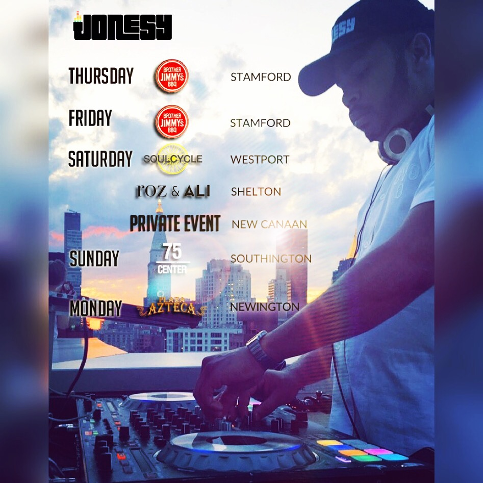 BUSY WEEKEND AHEAD!  PARTY, SHOP & EXERCISE TO THE SOUNDTRACK OF JONESY ALL WEEKEND!