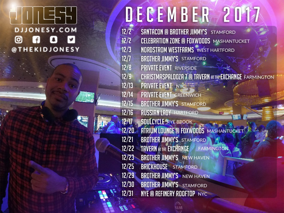 DECEMBER HAS ARRIVED!!  PARTY WITH US ALL MONTH LONG AT A VENUE NEAR YOU!