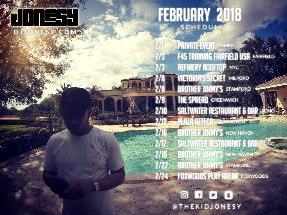 FEBRUARY HAS ARRIVED!  BE SURE TO PARTY WITH THE TEAM AT A VENUE NEAR YOU! #JONESYTEAM #LIGHTSKINSENSATION