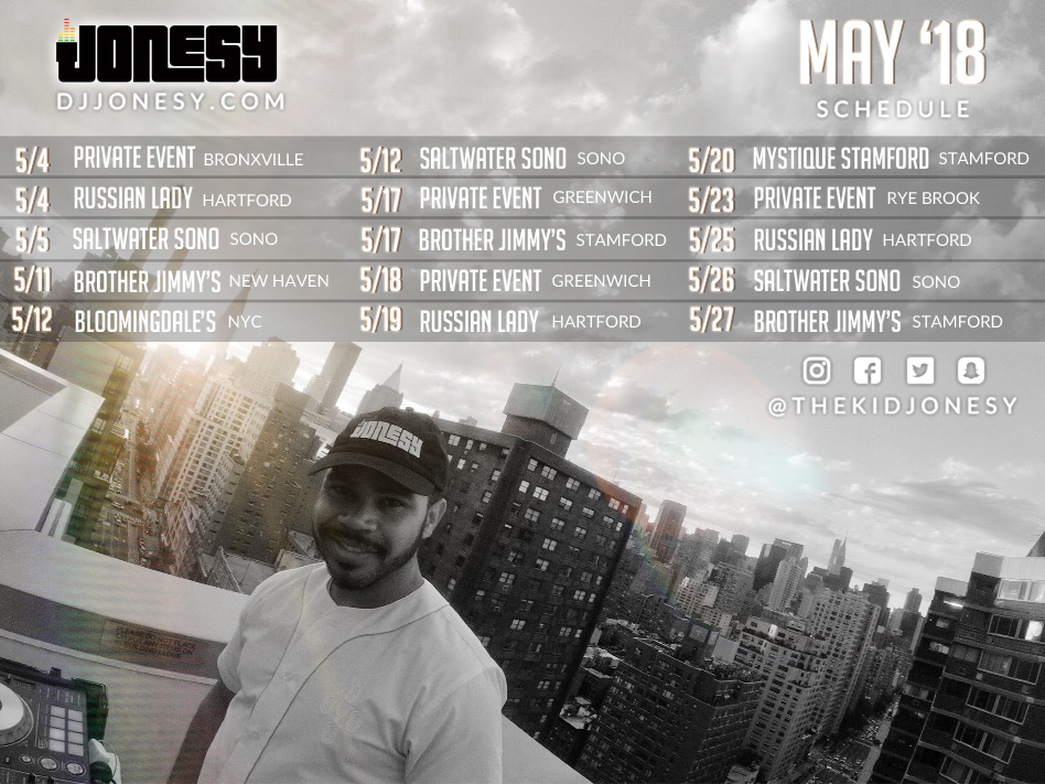 MAY HAS ARRIVED!  PARTY WITH US AT A VENUE NEAR YOU!