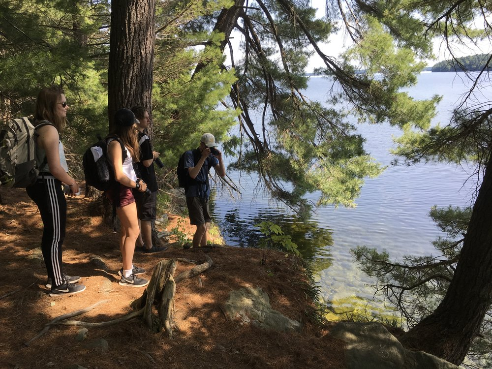 Photographing at Charleston Lake provincial park.