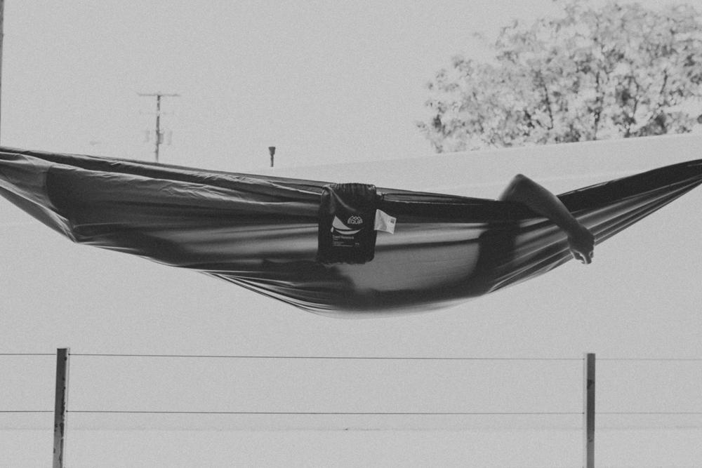 eric bought himself a hammock
