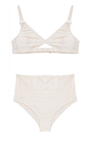 Cutout Bra, High Waisted Brief