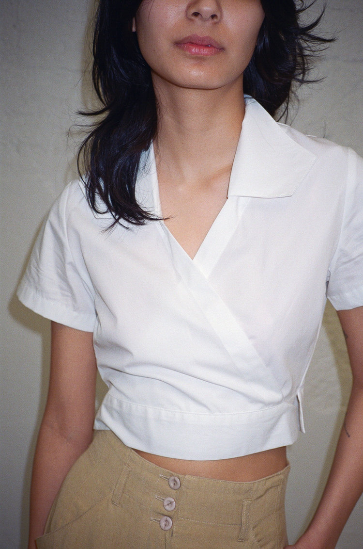 Park Cropped White Shirt   White by Lisa Says Gah