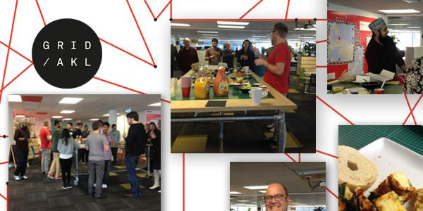 Some images from the Elevator Pitch morning tea here at GridAKL hosted by the Anthem crew