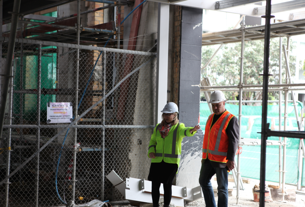 Main entrance on to Pakenham Street West - October 2014.