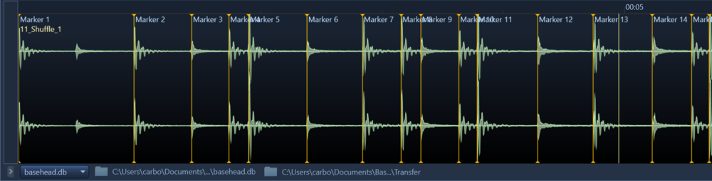 CUE Chunk markers are read and displayed now.   These markers usually come from programs like Wavelab and SoundForge and mostly used by music editors.  (Editing of these markers coming in version 5.1 so the music editors can marker their favorite sections of their compositions)