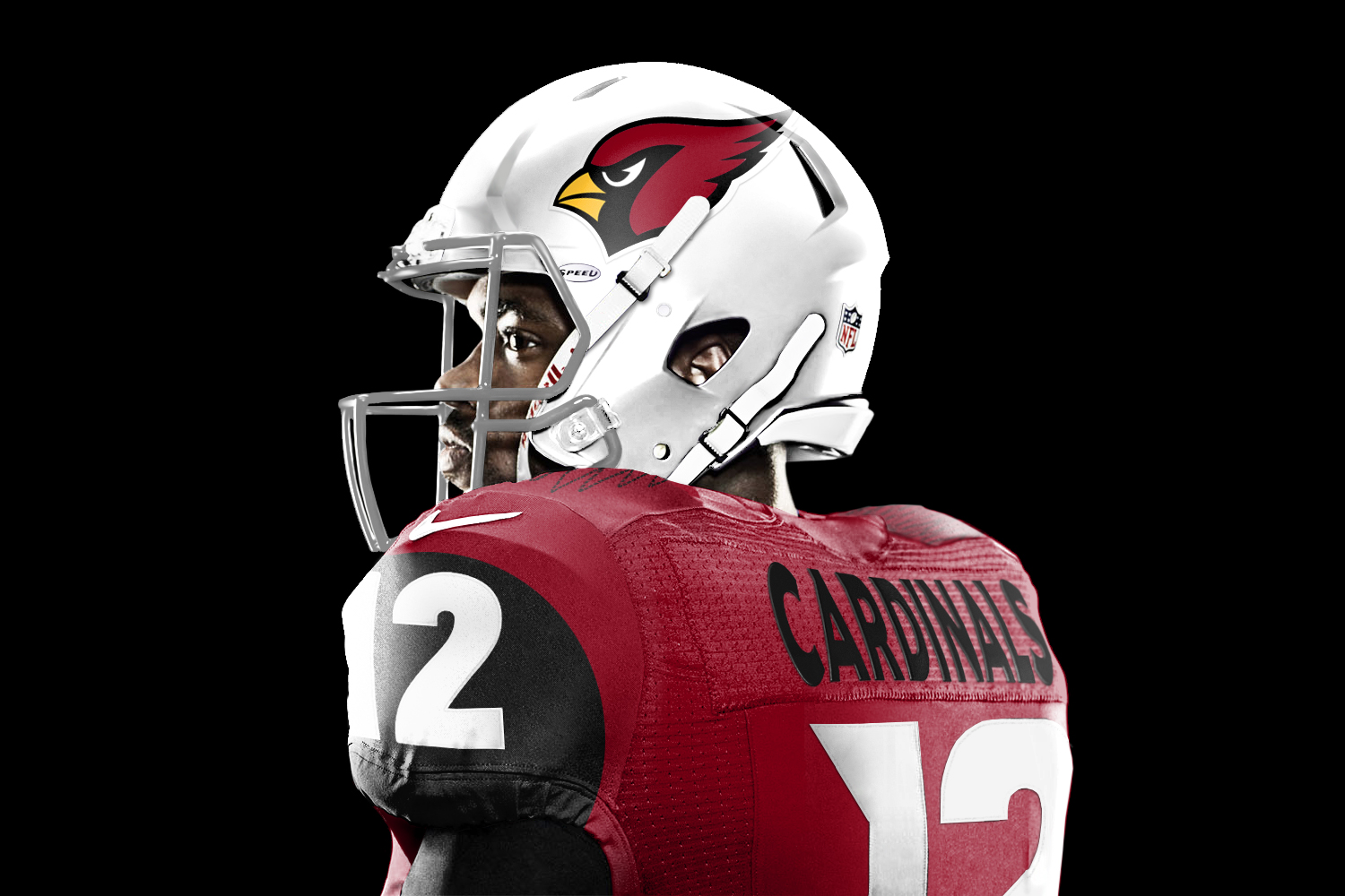 Arizona Cardinals 93 Calais Campbell Red Player Stitched NFL Hooded Sweatshirt
