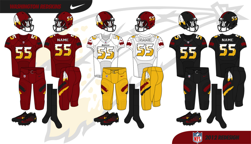 Early draft Washington Redskins concept (2012)
