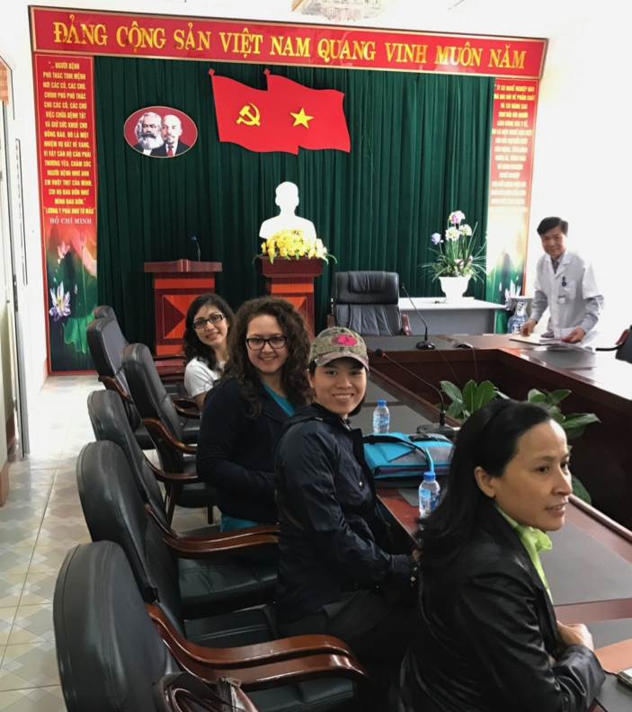 Members of the CCC team in Hoanh Bo Clinic in Vietnam