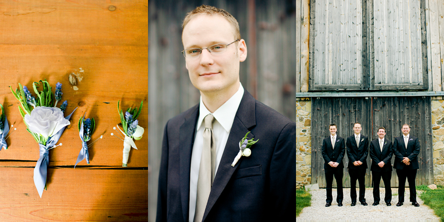 groom rustic barn boutineer michigan