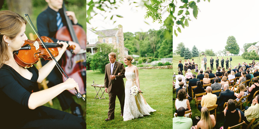 outdoor michigan barn wedding ceremony