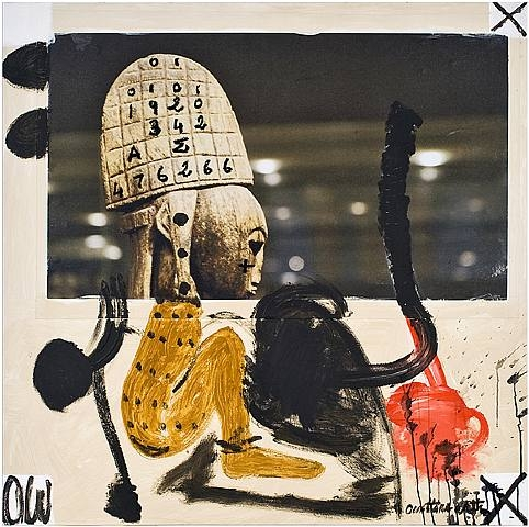 "Ouattara Watts "" Wanted 1""  (2008) , mixed media - Charest-Weinberg Collection"