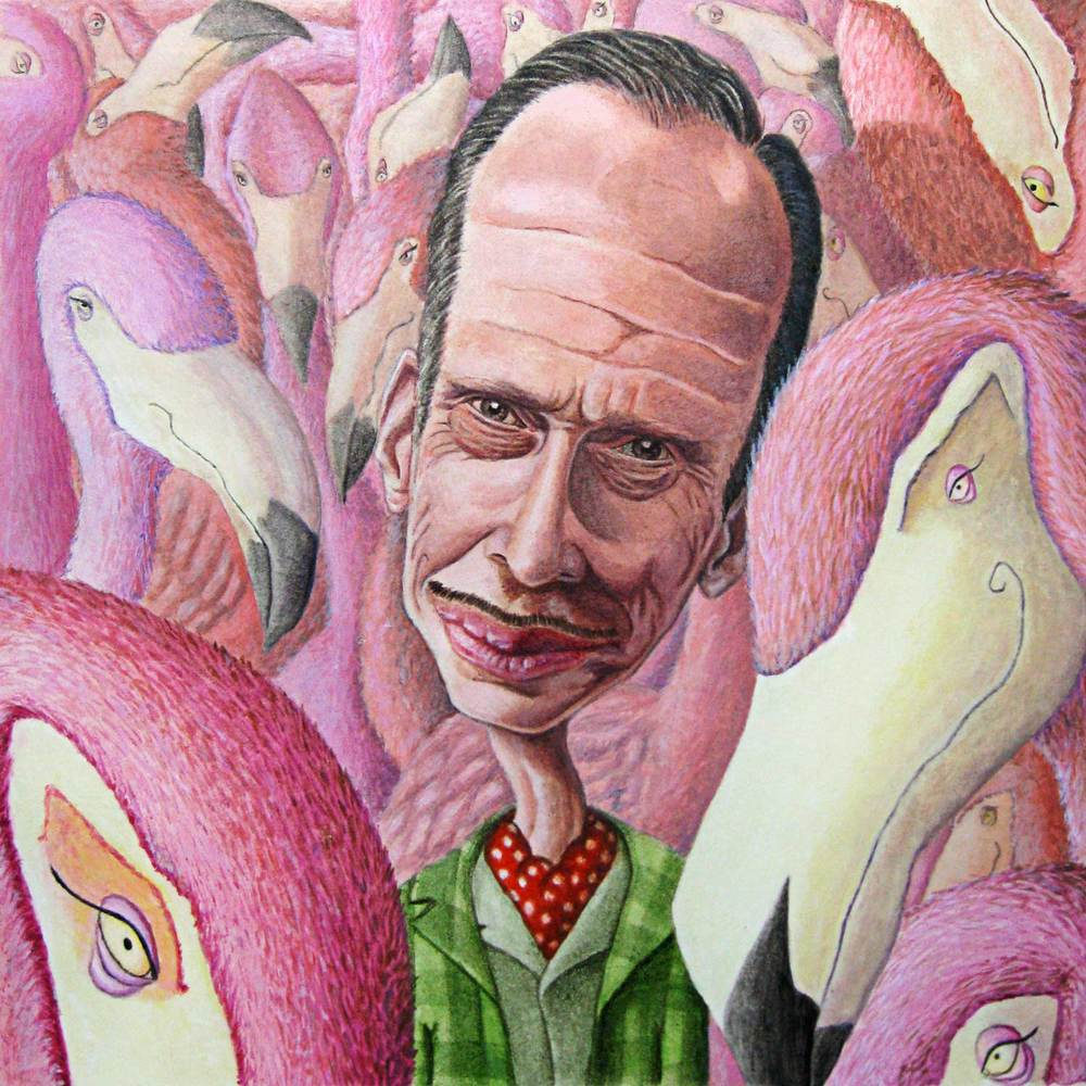 John Waters and his Divine Flamingos