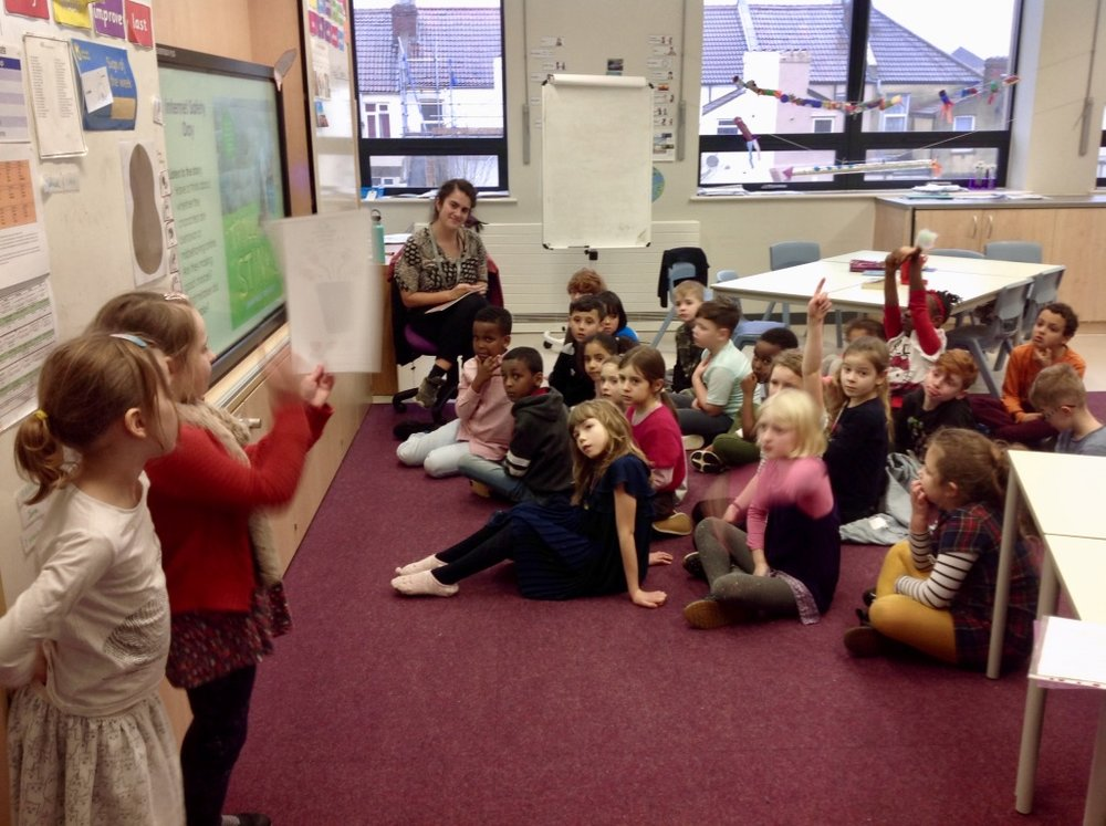 Paper bin talk - Following the Eco-Team assembly, our year 1 and 2 representatives visited the classes to remind them what can and can't go into our paper bins. They also presented every class with a paper bin fact file to help them remember.