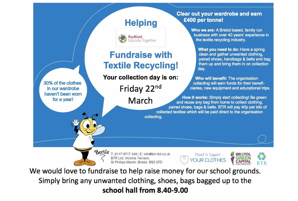 We are looking to raise some money for our school grounds, whilst helping our environment.